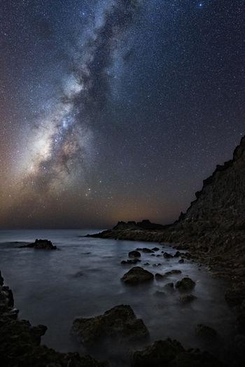 Galaxy Nightphotography Nikon Guided Photography Long Exposure Milky Way Night Seascape