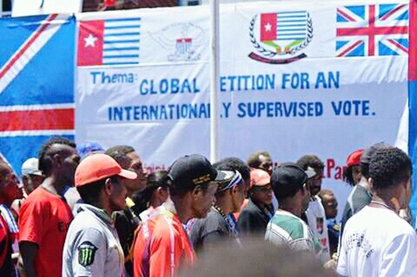 Large Group Of People Men West Papua Politic Of Freedom Patriotism West Papua Want To Free Of Indonesia Colonial. Papua Free Of Indonesia Colonial West Papua People Countrylife Social Issues