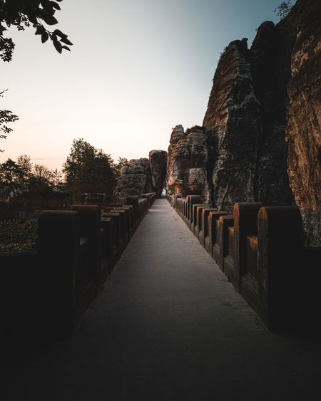 Perfect conditions for our morning adventure at the Bastei at Saxony Switzerland Saxony Switzerland Sachsen Dresden Bastei Basteibrücke Sky Landscape Ancient Old Ruin Ancient History The Past Archaeology Historic