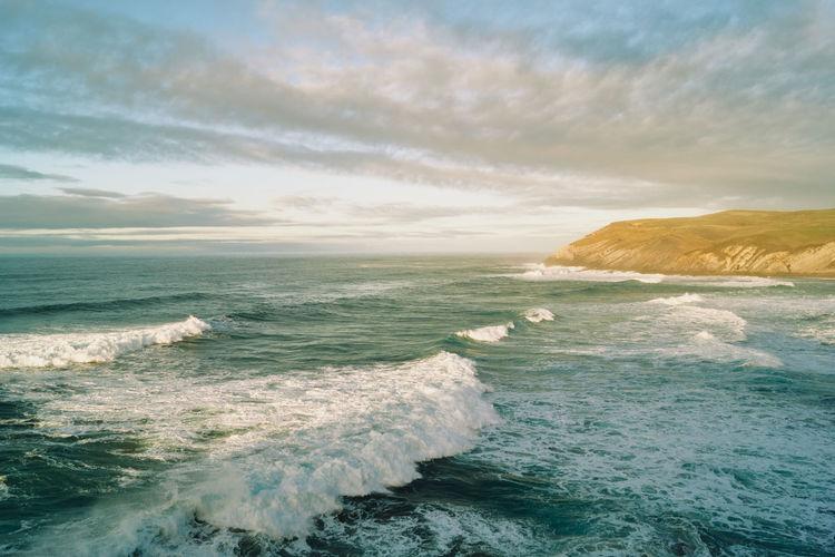 Wild sea in cantabrian coast