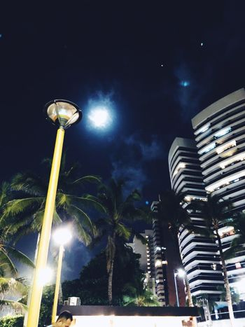 Night Illuminated Low Angle View Sky Building Exterior Architecture Built Structure