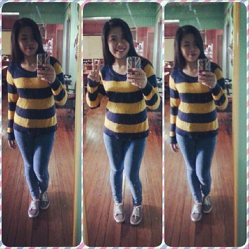 Sunny Saturday! :)) Outfitfortoday Yellowandblue Selfie Yo !