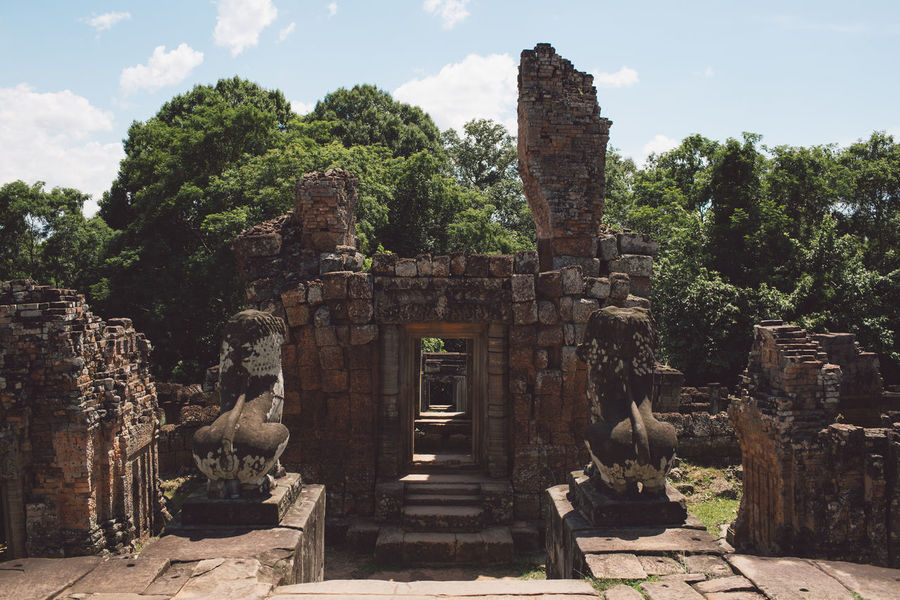 Siem Reap Cambodia Angkor Architecture Ancient Built Structure Religion History Place Of Worship Belief Tree The Past Ancient Civilization Old Ruin Plant Travel Destinations Nature Sky Day Travel Building Spirituality No People Outdoors Archaeology Ruined Deterioration Ancient History