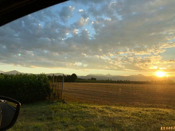 Alba.. Sky Sunset Cloud - Sky Field Scenics - Nature Beauty In Nature Mode Of Transportation