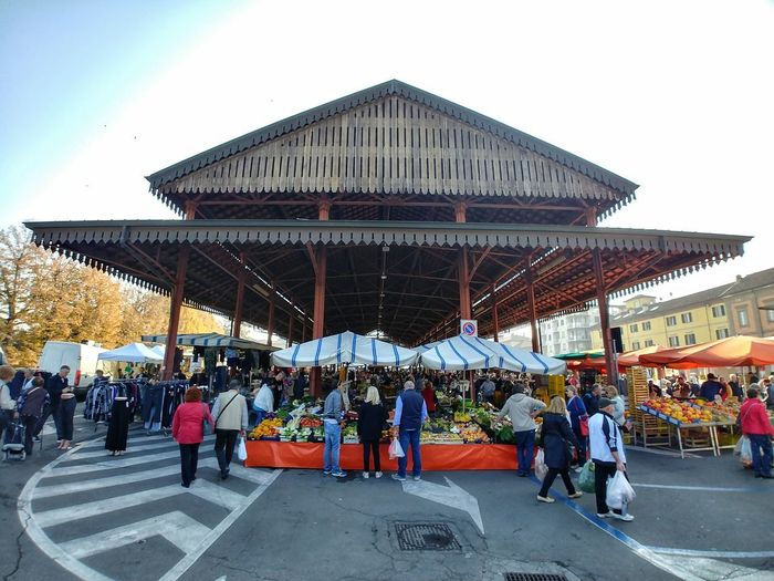TRUFFLE MARKET Truffle Market Market Truffle Alba Piedmont Italy Large Group Of People Architecture People Sky Travel Destinations Built Structure Vacations