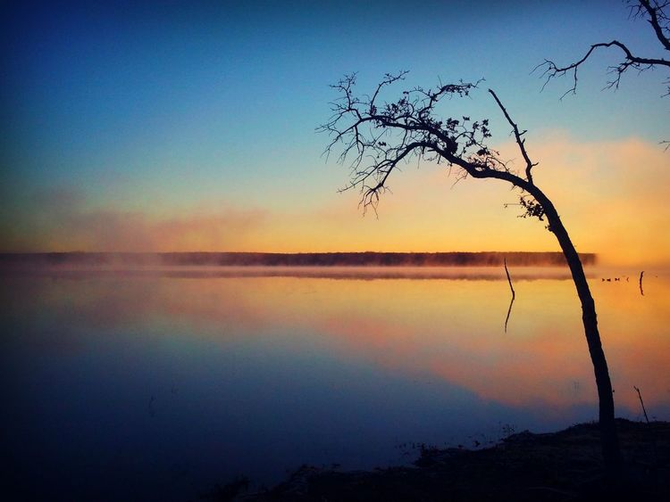 Beauty In Nature Clear Sky Day Lake Landscape Nature No People Outdoors Reflection Scenics Silhouette Sky Sunset Tranquil Scene Tranquility Tree Water