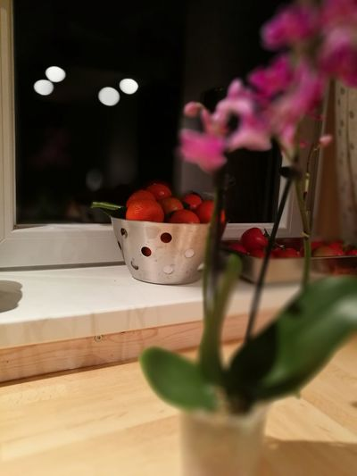 Flower flowepower Fruit Red Healthy Eating Indoors  Tagstagram Orchid Petal Flower Photography Emotion Indoors