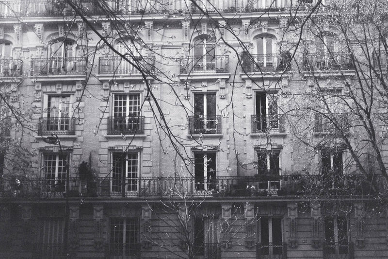 Architecture Black And White Building Built Structure Deterioration Facades Façade No People Paris Residential Building Residential Structure Street Tree