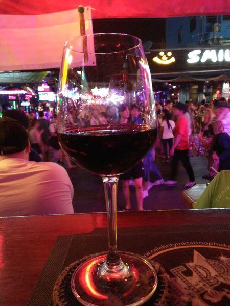 Half fulll half empty Nightlife Alcohol Bar Counter Wine Food And Drink Happy Hour Night Drink Nightclub Bangla Road Thailand Patong Beach