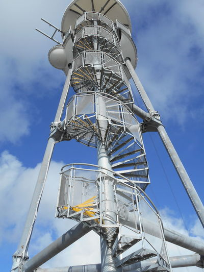 Blue Sky Built Structure Circular Stairway Clouds And Sky Construction Metal Outdoors Structure Technology Tower Tower Bridge  Zipline