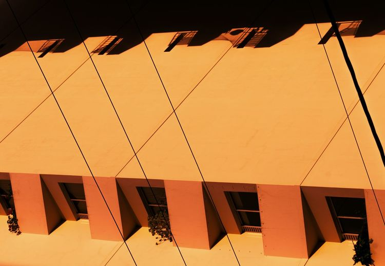 Outdoors No People Architecture Day Sunlight Sunset Building Exterior Golden Hour Shadows Pattern Warm Colors Orange