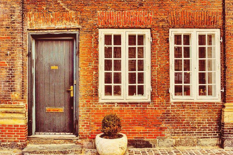 Architecture Building Exterior Window Door House No People Brick Wall Front Door Nikon D750 Copenhagen, Denmark Travel