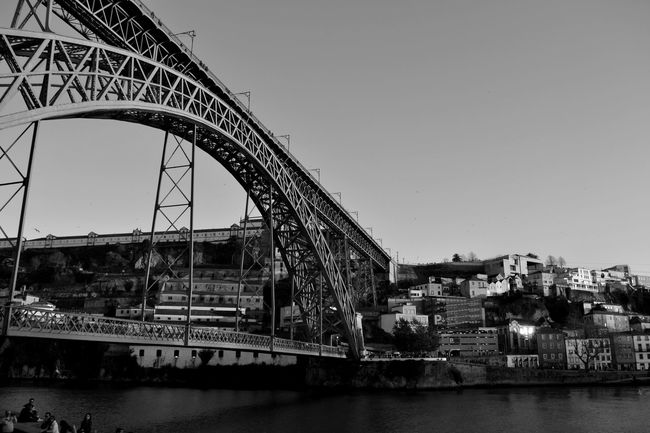 the bridge Bnw_collection #bnw_worldwide #p3top Portugalbnw Bnw_of_our_world Bnw Bnwsouls Bnwphotography Bnw_mood Bnw_top Photographer Photography Weshareportugal Igersportugal Bnw_globe Bnw_city Bnw_captures Bnw_of_the_world Blackandwhitephotography Bridgesaroundtheworld Architecture River Water Built Structure Sky Bridge - Man Made Structure Outdoors Day No People Building Exterior Nautical Vessel City