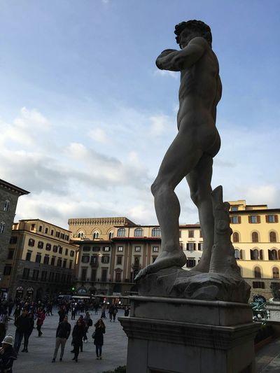 Firenze David Piazza Statue Florence Italy Estatua