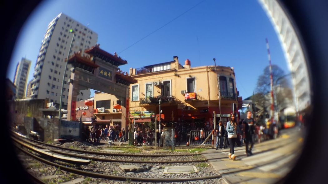 Architecture Belgrano Buenos Aires China Town Angularphotography Arch Architecture Argentina Big Fish Building Exterior Built Structure China Town Buenos Aires City Clear Sky Day Fish-eye Lens Outdoors Panoramic Sky