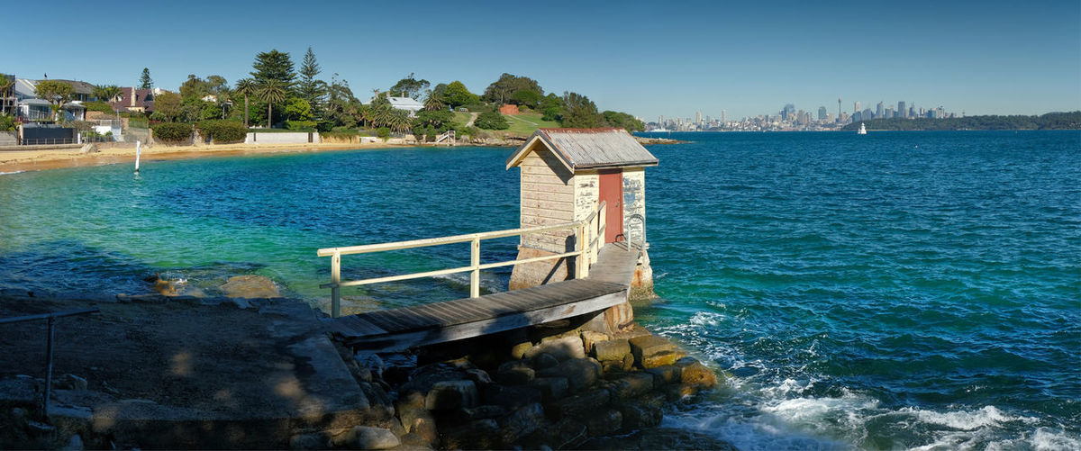New South Wales  Sydney Water Sea Architecture No People Day Building Exterior Scenics - Nature Built Structure Transportation Clear Sky Tranquility Camp Cove South Head