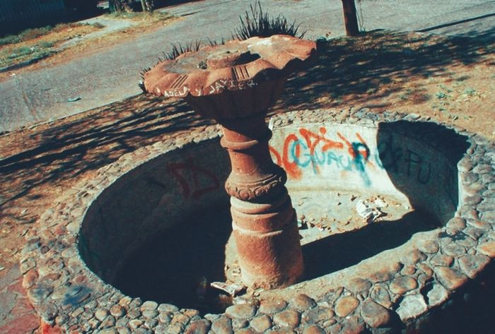 Fountain of broken glass and good memories Abandoned No People Bad Condition Day Fountain Graffiti Urbanphotography Concrete Concrete Jungle Hiding Place Outdoors San Luis Potosí Mexico
