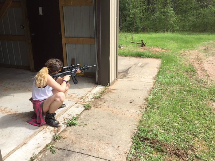22 Bullseye Day Empowerment  Girl Girl Power Gun One Person Outdoors Riffle Sharp Shooter Shooting Strong Strongwoman Target Shooting
