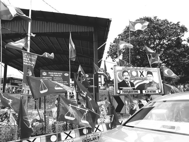 election day, malaysia - pru14 Election Day Pru14 Sky Street Art Information Signboard