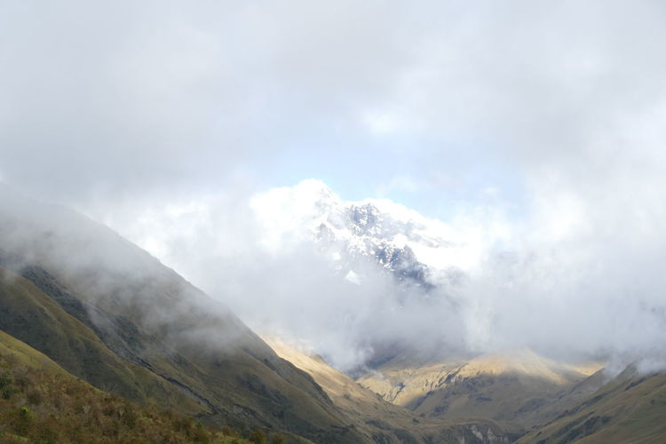 Andes Mountains Mountain View National Park Sangay Sunlight Beauty In Nature Clouds And Sky Ecuador Landscape Mist Mysterious Nature Scenics South America Sunset Valley Wilderness