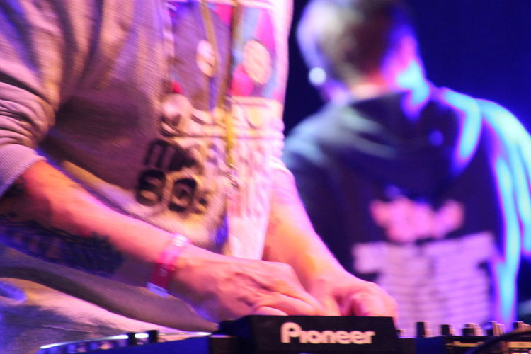 Blue Casual Clothing Close-up DJing Focus On Foreground Leisure Activity Lifestyles Part Of Rocknroll Selective Focus