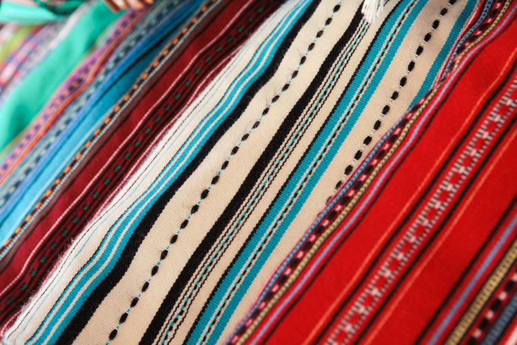 Cloths with Greek folk patterns Multi Colored Full Frame Close-up Pattern No People Variation Choice Red Textile In A Row Design Arrangement Market Art And Craft Retail  Selective Focus Still Life Vibrant Color Ornate Consumerism