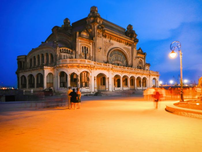 See view Casino Constanța Architecture Travel Destinations Built Structure City Outdoors Dome Sunset People Sky Day Black See Old Casino Constanta