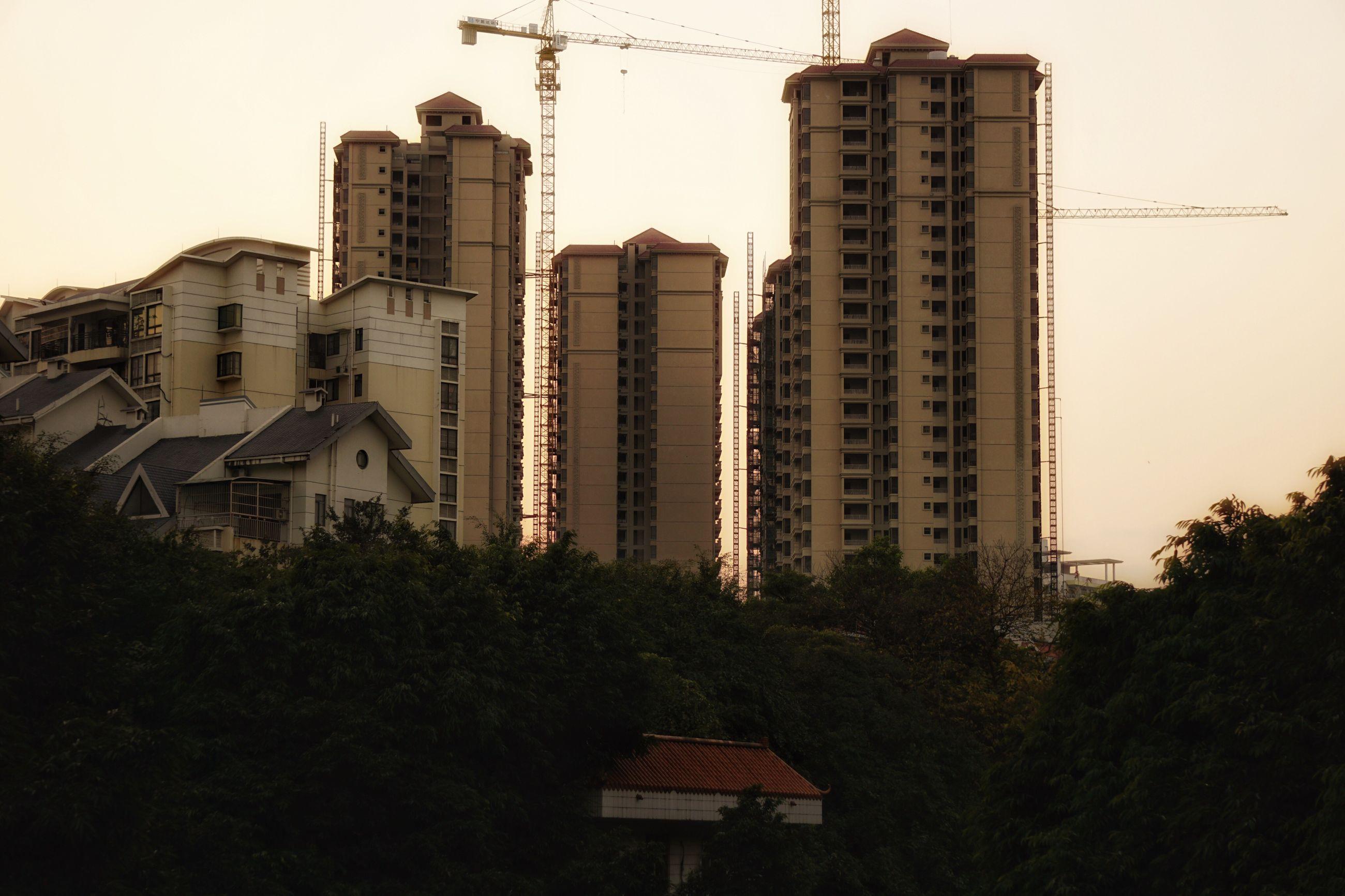 TALL BUILDINGS AGAINST SKY