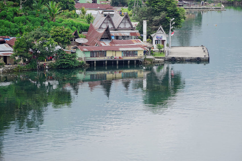 Sumatra  Toba Lake Architecture Beauty In Nature Building Exterior Built Structure Day Lake Nature No People Outdoors Reflection Tree Water Waterfront