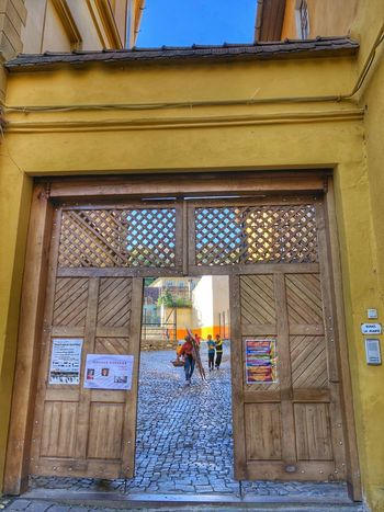Medieval towns Sighisoara-Romania Historical Building Street Photography Eye Em Around The World Facades Eyeemarchitecture Medieval Town EyeEm Gallery Quaint Places Eastern Europe Low Angle View Doorsandwindows Architecture Built Structure Building Exterior Building Door Entrance Window Day Outdoors Wall - Building Feature Doorway
