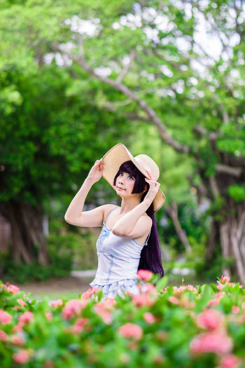 Kuroneko Kuroneko Gokou Ruri Oreimo Cosplay Girl Portrait Outdoor Park Asdgraphy Solo Single People One Woman Only Women Young Adult Hat Summer Beautiful People Flower Taiwan Taipei Event One Person Summer Dress