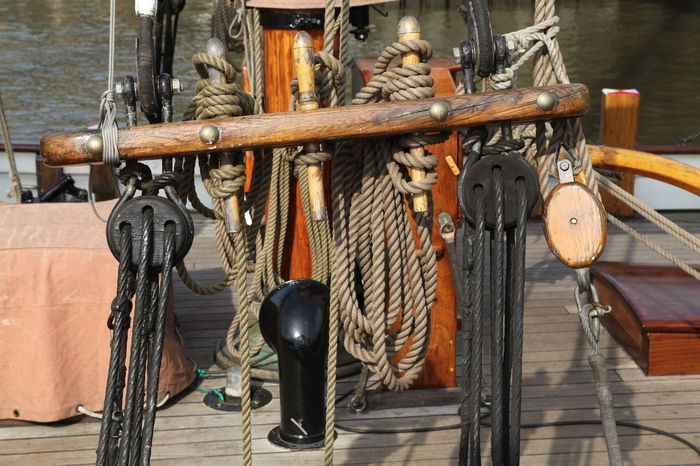 Im Museumshafen Övelgönne ... Close-up Detail History Museumsschiff Ordnung Segelschiff