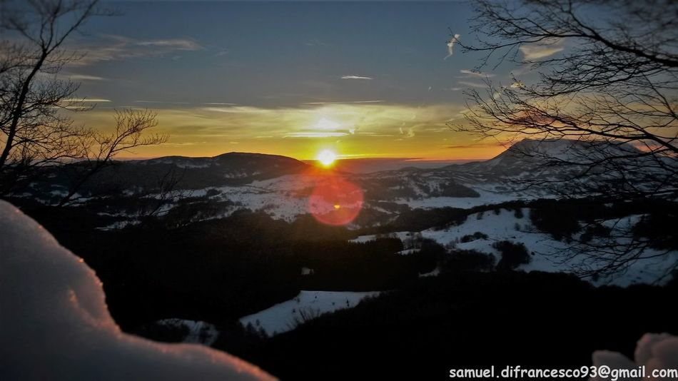 Sun Nature Beauty In Nature Scenics Sunset Sky Tranquility Silhouette Outdoors Sunlight No People Water Tree Cold Temperature Winter Snow Day Astronomy