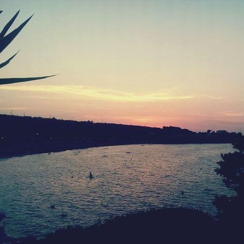 Laguna Sunset Sun Sea Calm Peschici Puglia Gargano Camavitè Sea Crovatico