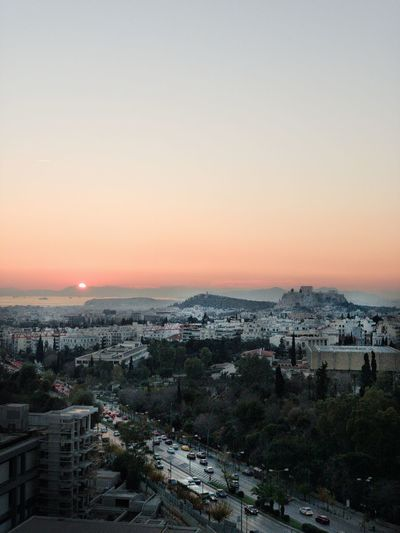 Parthenon Acropolis, Athens Athens Athens, Greece Sunset From Above  Cityscape Building Exterior Sky Architecture Built Structure City Sunset Cityscape High Angle View Clear Sky Outdoors TOWNSCAPE Building It's About The Journey
