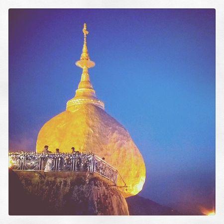 Wishing you all a peaceful happy new year, my igers friends! Kyeikhteeyoe Goldenrock Pagoda Myanmar igersmyanmar