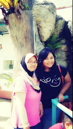 with my dearly mom....