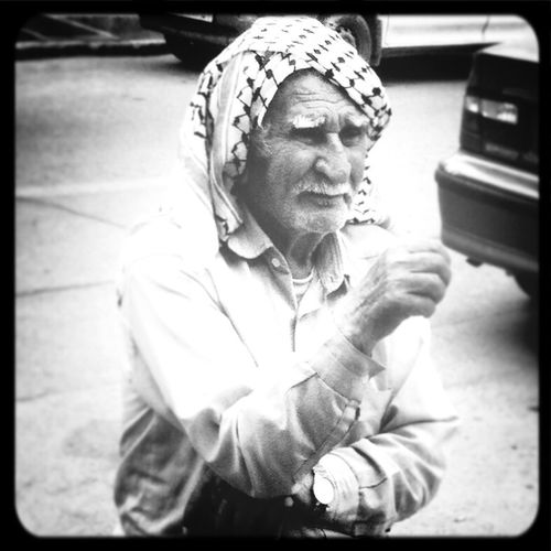 Old Fashion People Black And White Street Portrait
