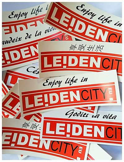 LEIDEN City Holland - Free Stickers Enjoy Life in Leiden Logo Tourism Tourist Office Tourist Destination Leiden City Holland Communication Text Business Short Phrase Information Board Commercial Sign Information Sign Advertisement Sign