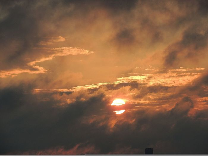 Sunrise on the horizon Orange Color Cloud - Sky Dramatic Sky Nature Gold Colored Beauty In Nature Sun Sky Outdoors No People Beauty Cloudscape Close-up Textured  Heaven