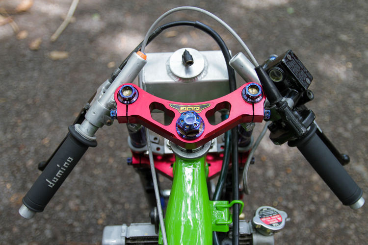 Colors EyeEmNewHere Green Motorcycle Wheel Close-up Day Motorcycle No People Outdoors Shock Speedometer Technology Transportation Turning Turning Up