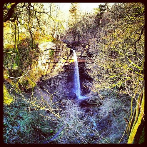 Waterfall in Hardraw Yorkshire Yorkshirenationalpark Uk England