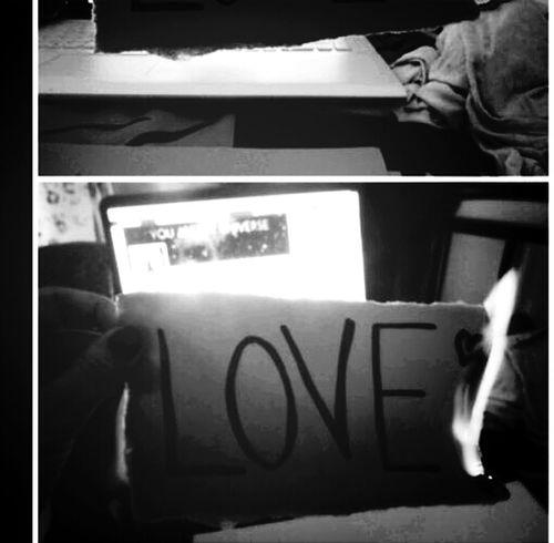 Love ♥ Feuer Papier