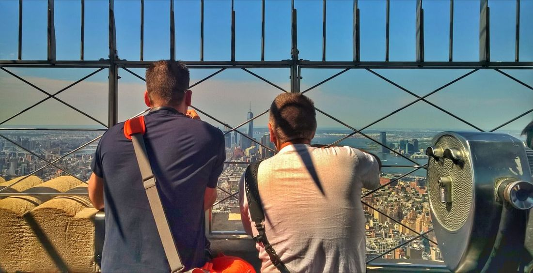 Enjoying the view Empirestatebuilding Two People Rear View People Outdoors Sky City Newyorkcity Newyorkcitylife