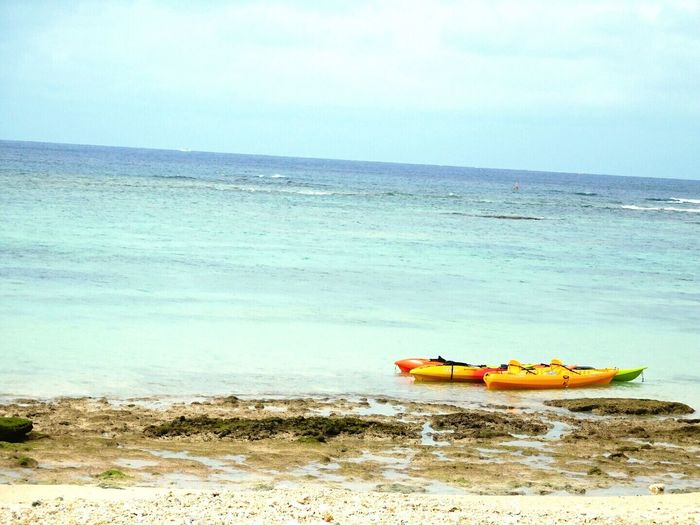 School Trip✌ OKINAWA, JAPAN Sea Sea Kayak Cloudy Sky