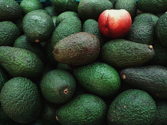 Full frame shot of avocado
