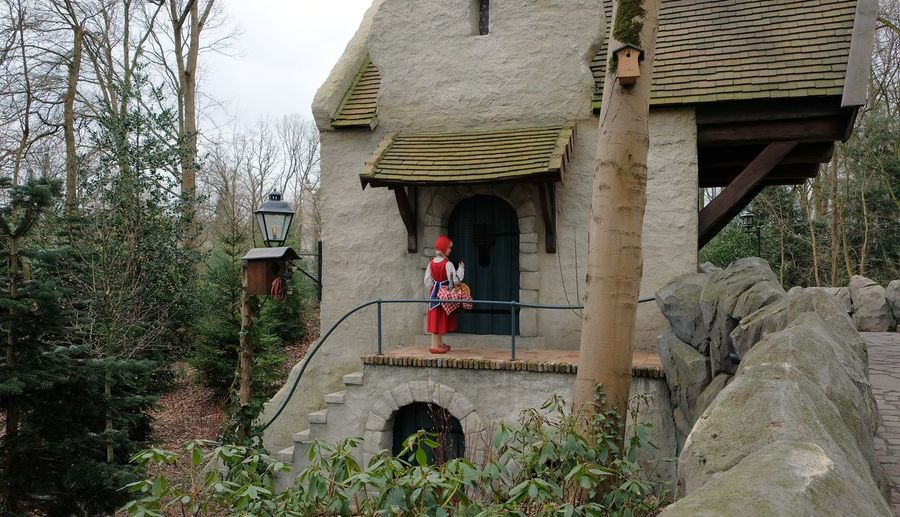 Attraction theme park the Efteling, Kaatsheuvel, the Netherlands. Built Structure Architecture Building Exterior Plant Building Tree Nature Day Bridge Direction Arch The Way Forward Outdoors Bridge - Man Made Structure Growth Railing No People Connection House Architectural Column