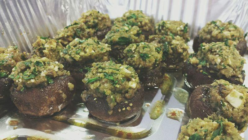 Homemade spinach and feta stuffed mushrooms Home Cooking Dinner Italian Yummy Cooking Enjoying Life Mushrooms
