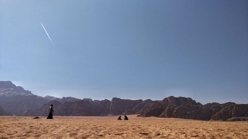 People Nature Outdoors Sky Beauty In Nature Landscape Only Men Desert Life Bedouin Simpleliving Travel Photography Watching People Dayinthedesert Wickitravels To  Wadi Rum Jordan