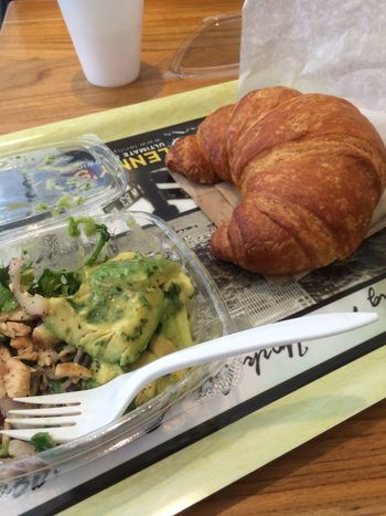 NYC Breakfast Food Healthy Avocado Croissant Bakery Yum Delicious Mmmmm  Love It